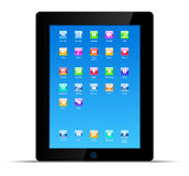 Touch pad tablet pc concept Stock Photos