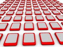Touch pads Array Royalty Free Stock Photography