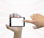 Touch phone. An attractive artwork for touch phone on white background stock image