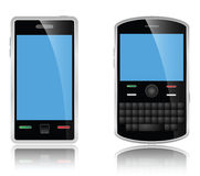 Touch Phone and Qwerty Chat Phone. With clipping path Stock Image