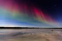 A touch of Red Aurora. Stock Image