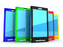 Touch screen сell phones Royalty Free Stock Photography