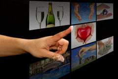 Touch screen... Stock Photo