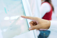 Touch the screen Royalty Free Stock Images