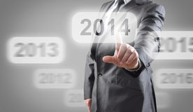 2014 on touch screen Royalty Free Stock Photo