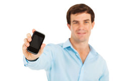 Touch screen cell phone Stock Images