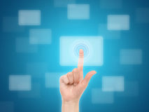 Touch Screen Concept Royalty Free Stock Photography