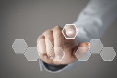 Touch screen concept Royalty Free Stock Image