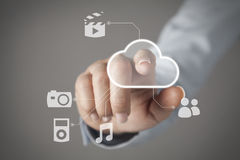 Touch screen concept Stock Images
