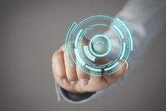 Touch screen concept Royalty Free Stock Photo