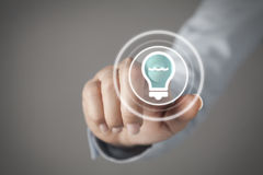 Touch screen concept Stock Photography