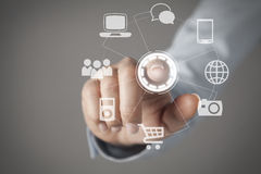 Touch screen concept Stock Image