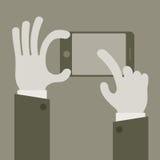 Touch screen concept grey Stock Photos