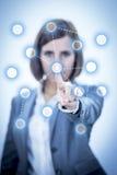 Touch Screen Concept Networks Fotografering för Bildbyråer