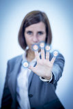 Touch Screen Concept Networks Royalty Free Stock Photography