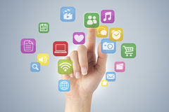Touch screen concept Royalty Free Stock Images