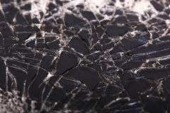Touch screen crack of mobile phone. Mirror broken royalty free stock images
