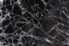 Touch screen crack of mobile phone Stock Photo