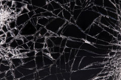 Touch screen crack of mobile phone. Mirror broken stock photography
