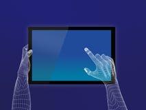 Touch screen della mano illustrazione vettoriale