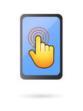 Touch screen device vector. Isolated illustrated touch screen electronic gadget as mobile phones or media players Royalty Free Stock Image