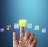 Touch screen display Royalty Free Stock Photos