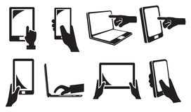 Touch Screen Electronic Devices Icon Stock Images