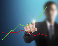 Touch Screen financial symbols Stock Photos