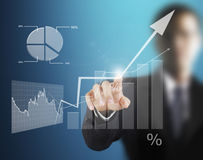 Touch Screen financial symbols Royalty Free Stock Images