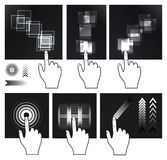 Touch screen gesture, interface Royalty Free Stock Photos