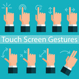 Touch Screen Gestures. Vector illustration in eps10 Royalty Free Stock Photography