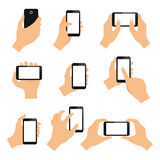 Touch screen hand gestures Royalty Free Stock Images