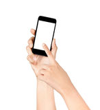 Touch Screen Handy, in der Hand Stockfotografie