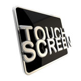 Touch screen icon as a glossy pad Royalty Free Stock Images