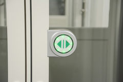 Touch screen Icon for open the door Royalty Free Stock Photos