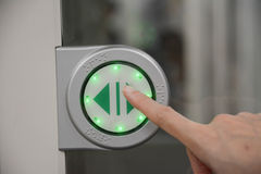 Touch screen Icon for open the door Stock Photo