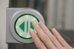 Touch screen Icon for open the door Royalty Free Stock Images