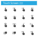Touch Screen Icons flat icon Royalty Free Stock Photography