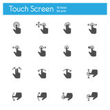 Touch Screen Icons icon Stock Photo