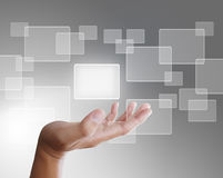 Touch screen interface Royalty Free Stock Image