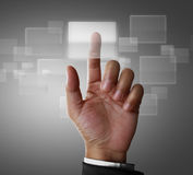Touch screen interface Royalty Free Stock Photography