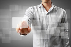 Touch screen interface Stock Images