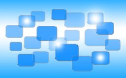 Touch screen interface. On blue background Royalty Free Stock Image