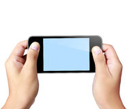 Touch screen mobile phone Stock Image