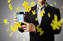 Touch screen mobile phone Royalty Free Stock Image