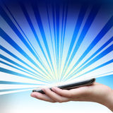 Touch screen of mobile phone. Royalty Free Stock Images