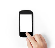 Touch screen mobile phone Royalty Free Stock Photos