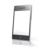 Touch screen mobile phone device. 3D rendered image of generic touch screen mobile phone device Stock Images