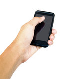 Touch screen mobile phone, in hand Royalty Free Stock Images