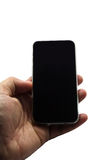 Touch screen mobile phone, in hand Stock Image